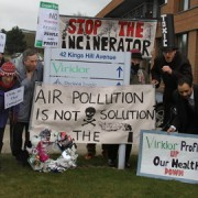 Stop the incinerator campaigners. Pic: Emmet Simpson