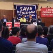 Save Lewisham A&E meeting Pic:Lucy Johnson