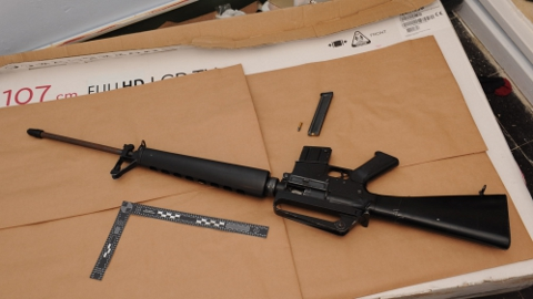 M16 assault rifle seized by Trident Gang Crime Command. Pic: Met Police