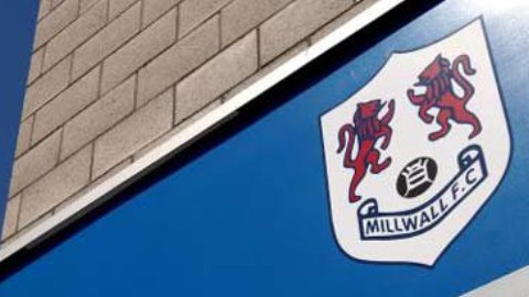 Millwall FC shield outside the New Den.