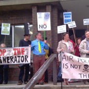 Stop the Incinerator Campaign outside the Sutton Civic Centre