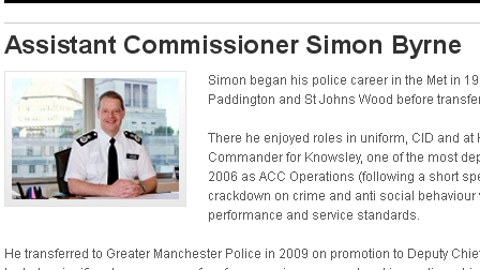 Assistant Commissioner Simon Byrne. Pic: Met Police