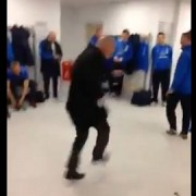 Ian Holloway's unique victory dance in the away dressing room at Brighton's Amex stadium. Pic: YouTube