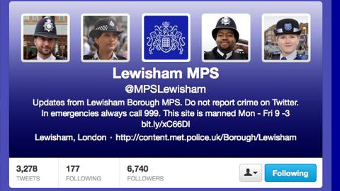 Pic: Lewisham MPS twitter