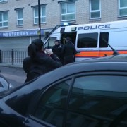 Dawn raids in multiple addresses in Tower Hamlets and Hackney securing more than 70 arrests. Pic: Met Police
