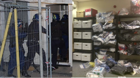 Operation Carbon: largest operation of its kind by Met Police and Tower Hamlets Council targetting burglary and drugs crimes. Pics: Met Police