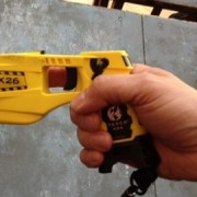 Taser gun used by the Metropolitan Police. Pic: Saskia Black