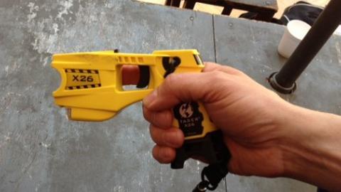 Taser gun used by the Metropolitan Police. Pic: Saskia Black