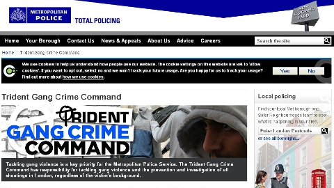 Metropolitan Police Trident Gang Command website