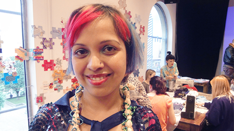 Craft making night in Hackney Pic: Anette Therese Hanssen