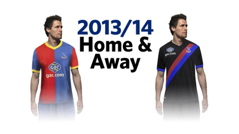 New kits for Crystal Palace FC. Pic: CPFC
