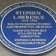 A blue plaque has been put us as a memorial to Stephen Lawrence. Pic: