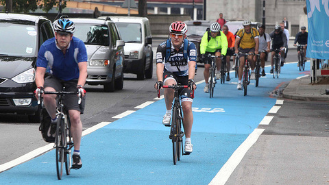 Work on the new cycle route began this month. Photo: Transport for London.