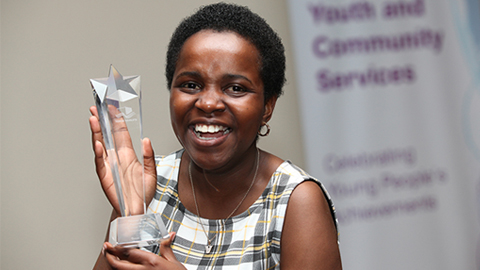 Winner of Outstanding Achievement award - Vivian Namagembe. Pic: Tower Hamlets Council