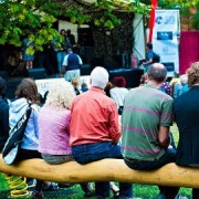 Visitors enjoy a performance at last year's event. Photo: Crystal Palace Overground Festival.
