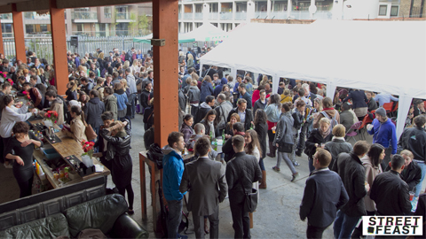 Street Feast at Merchant Yard, Hackney. Pic: Street Feast