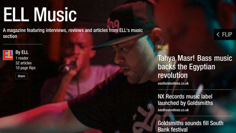Front cover of ELL Music. Click the image to view in Flipboard.