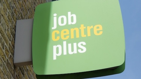 Job Centre Plus sign London photo