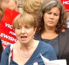 Victory for campaigners at High Court (front: Dr. Louise Irvine; back: Heidi Alexander MP)