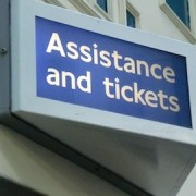 whitechapel station ticket office sign