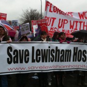 One of many Save Lewisham Hospital marches last year. Pic: Lautel Okhio