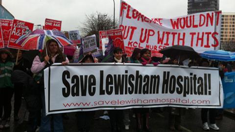 One of many Save Lewisham Hospital marches last year. Pic: Lautel Okhio