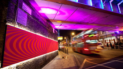 Hackney Bridge installation on Mare Street. Pic: Hackney Council