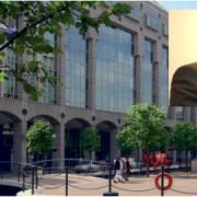 Aman Dalvi and Town Hall. Pic: Tower Hamlets council