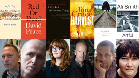 The novels shortlisted and their authors.