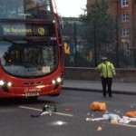 The scene of the accident in Stoke Newington. Pic: Dan Howells
