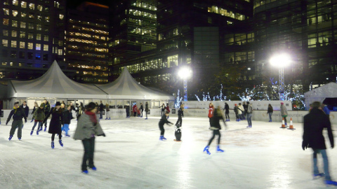 Canary Wharf Ice Rink: Gabrielle Ludlow