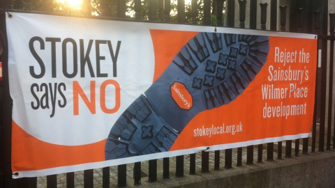 A Stokey Local campaign banner. Pic: Hackney Planning Watch