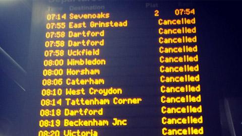 Trains cancelled at London Bridge pic: craiglegrice