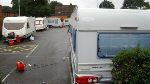 Convoy of travellers occupying Sydenham car park