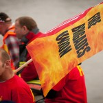 Fire Brigade Union strike. Pic: FBU