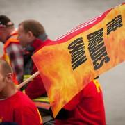 Fire Brigade Union strike. Pic: FBU
