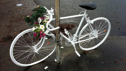 The community speaks out about cyclist deaths. Pic: Francis Storr
