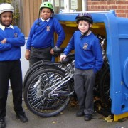 Proud children by their bikes. Pic: Rockmount Primary School