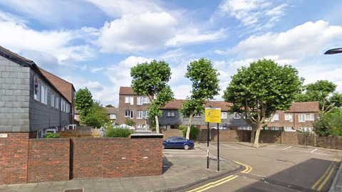 Johnson Close, one of London's quietest streets. Pic: Google Maps
