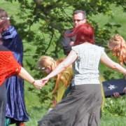Pagan ceremony. Pic: Graham Nicholls