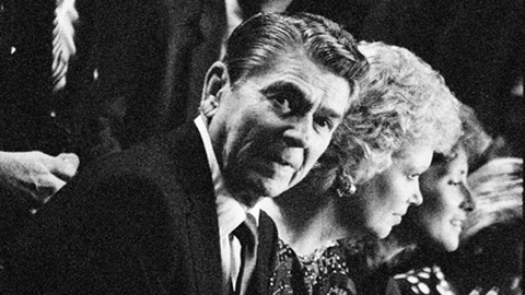 Ronald Reagan at the Republican National Convention. Pic: Grant Fleming