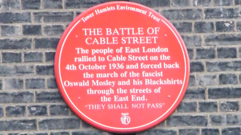 Commemorative plaque in Dock Street. Pic: Spixey
