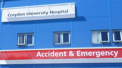 Croydon University Hospital under fire. Pic: ...