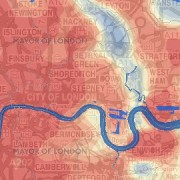 hackney heat map. Pic: Greater London Authority