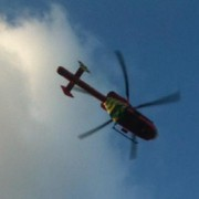 An air ambulance was called to the scene of the crime. Pic: Emma Finamore