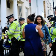Police stop and search young people. Pic: Belkus.