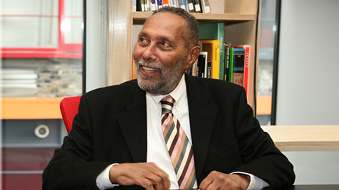 Stuart Hall in Iniva's Stuart Hall Library. Pic: Iniva