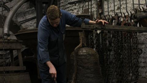 A foundry's bell worker Pic: Jordan Koehl