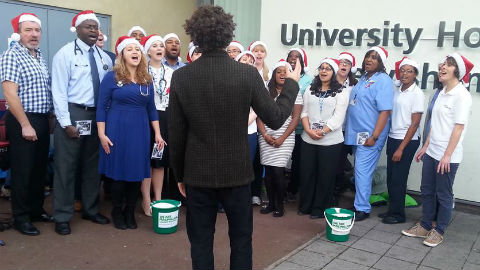 NHS Choir performing Pic Lou Boyd
