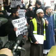 Shariah Project march through Brick Lane, Shoreditch Pic: Jack Simpson
